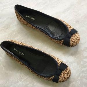 Nine West Leopard Calfhair Ballet Flats 6.5